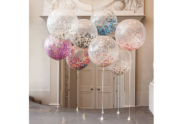 36 Inch Confetti Balloons Giant Clear Balloons Party Wedding Party Decorations Birthday