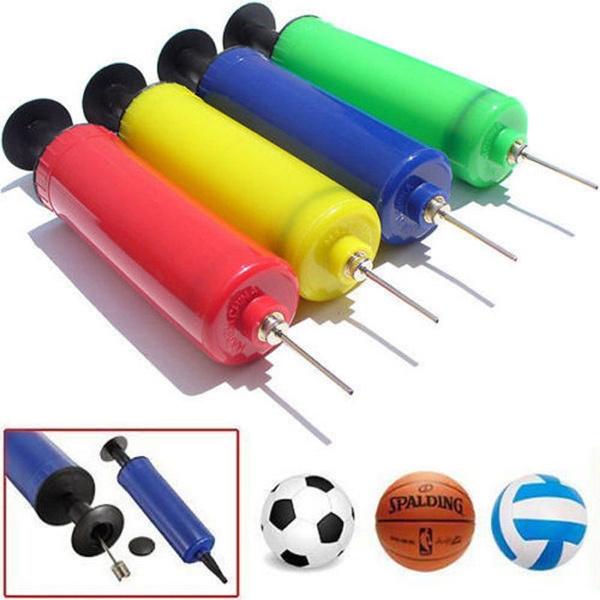 Ball Inflator Inflating Air Hand Pump Needle Football Soccer Basketball Sports