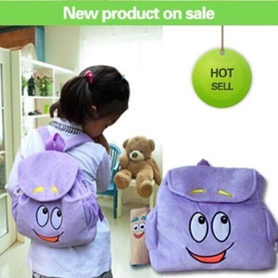 ly Mochila Cute Backpack Dora The Explorer Plush Toy Mini ... on