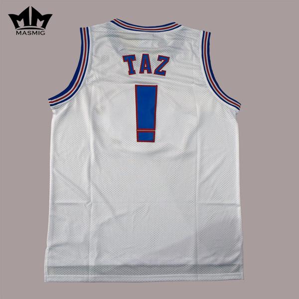 38edef73c1b MM MASMIG Movie Space Jam Jersey Tune Squad Basketball Jersey TAZ ...