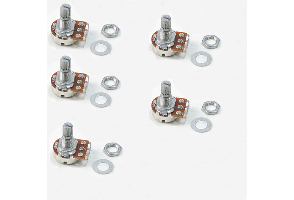 A500K Split Shaft Potentiometer Electric Guitar Audio Tone Switch