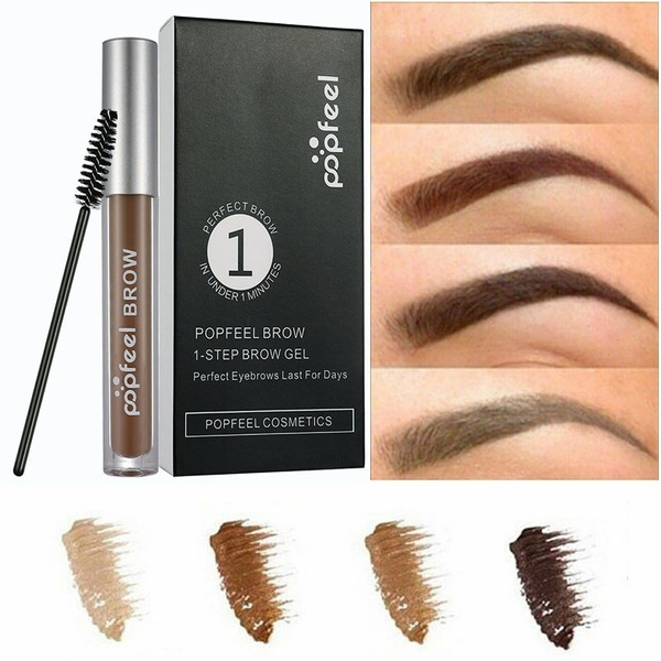 Popfeel Professional Brow 1-Step Brow Gel Perfect Eyebrows Last For ...