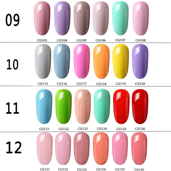 Wish | Azure 12ML Beauty Nail Art 7Pcs/Set Gel Nail Polish Set Soak ...