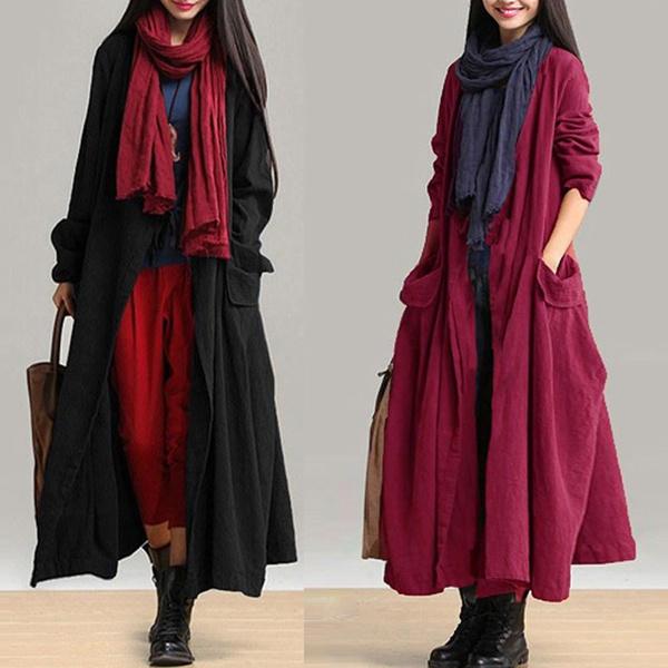Plus Size, Shirt, Sleeve, Long Coat