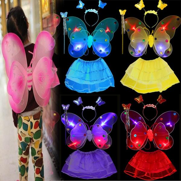 butterfly, ledflash, led, wand