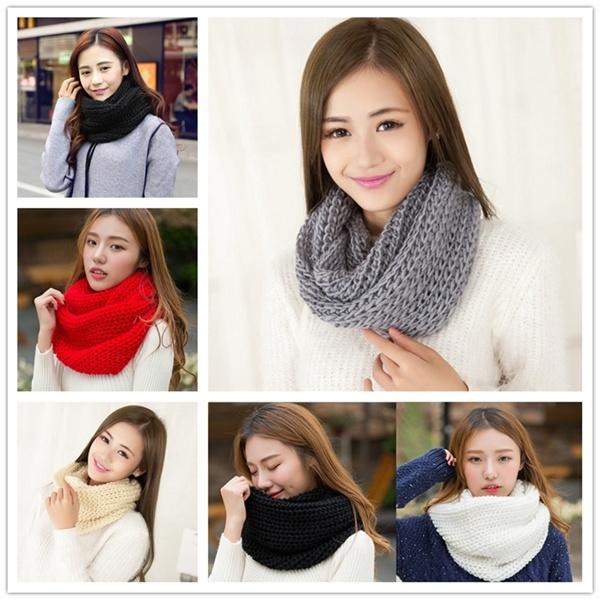 Women Ladies Fashion Scarf Infinity Circle Cable Wrap Scarf Warm Wrap Shawl XI