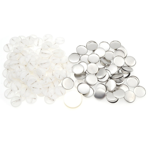 100pcs 25mm/1'' DIY Pin Badge Buttons Parts Supplies for Pro Maker Machine