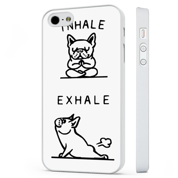 Funny French Bulldog Quotes Joke WHITE PHONE CASE COVER fits iPHONE 4 5 6 7