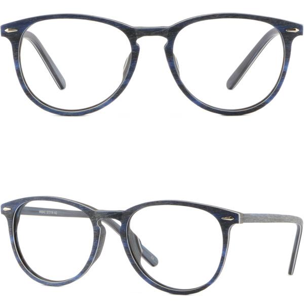 Square Men Women Acetate Frame Prescription Glasses Silver Pieces Shiny Black