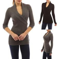 Plus Size, Women Sweater, Winter, Sleeve