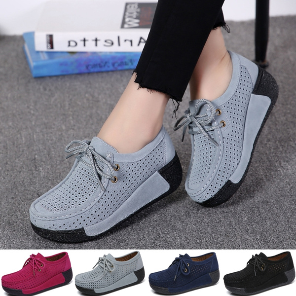 7 Colors Women Casual Sport Shoes Fashion Female Shake Shoes Ladies Comfortable Hollow out Breathable Leisure Loafers 35 41