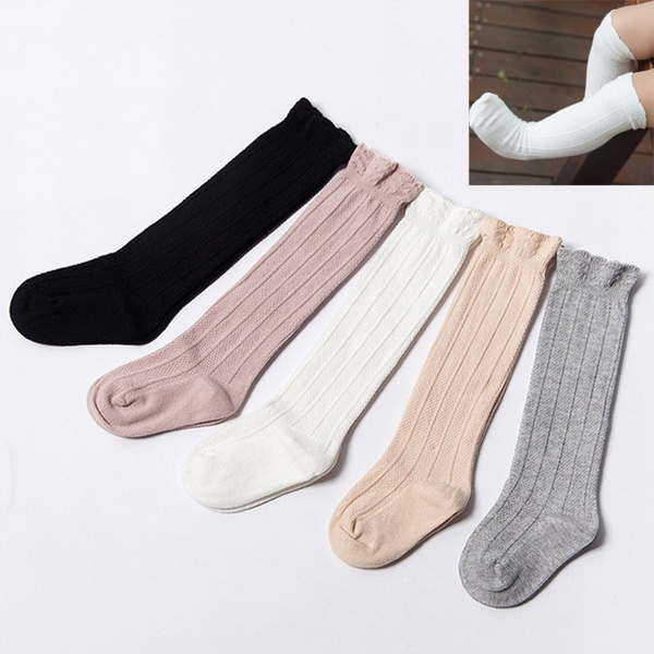Baby Toddler Girls Warmer Stockings For 0-3Y Cotton Knee High Socks Tights Leg