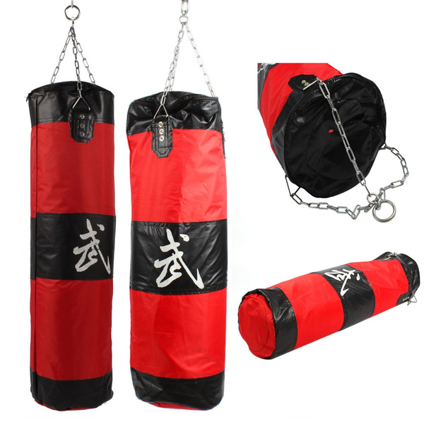 Empty Heavy Boxing Punching Bag with Chains Sparring MMA Boxing Training