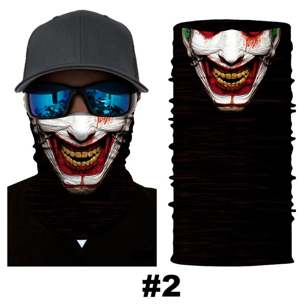 Wish | Fashion Cool Skull Halloween Mask Scarf Joker Headband Balaclavas for Cycling Fishing Ski Motorcycle