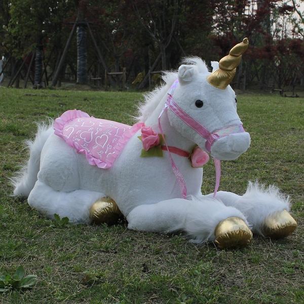 Unicorn Plush Kids Toys Jumbo Stuffed Soft Animal Horse Children Doll Toy Gift