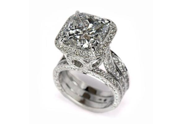 925 Sterling Silver Brilliant White Sapphire Diamond cz Wedding Band Ring Size 6 7 8 9 10