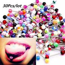 surgicalsteel, Jewelry, Colorful, tounge