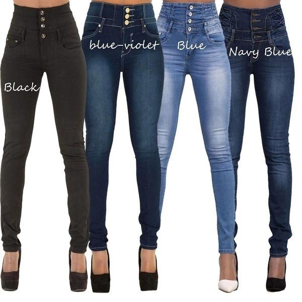 216b4337b0afb Womens Fashion Sexy High Waist Stretch Jean Trouser Stretchy Slim ...