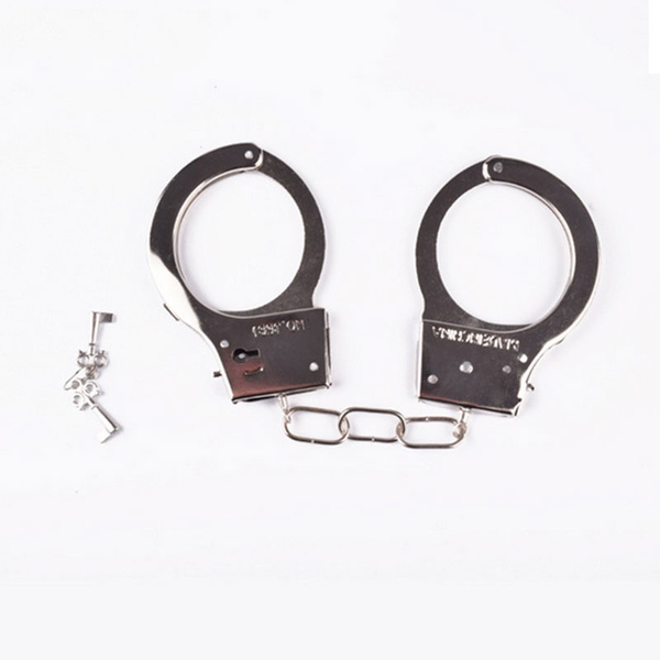 wish metal handcuffs police halloween tricks joke pranks cosplay fools day costume