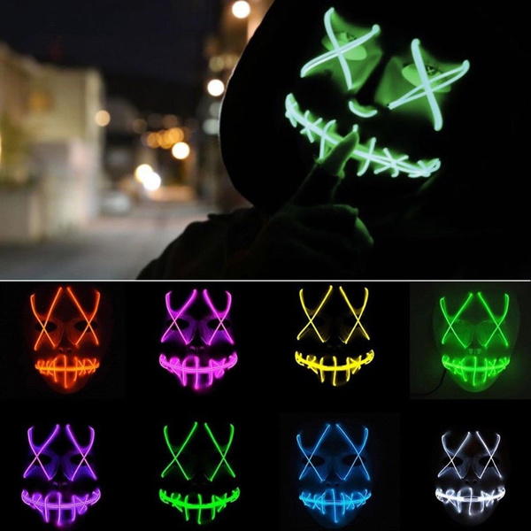 The Purge Mask LED Election Year Movie Rave Party Festival Halloween Costume