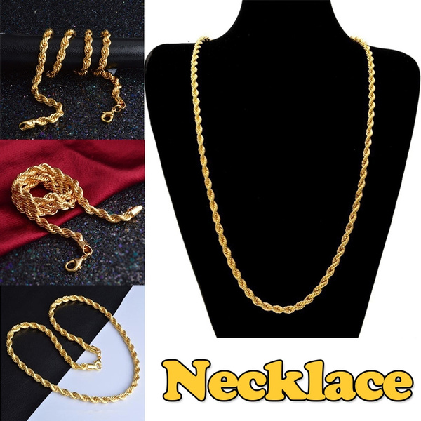 cf8d6e858eada0 Regal Jewelry Long Chain Necklace Men Jewelry Brand Gothic Gold ...