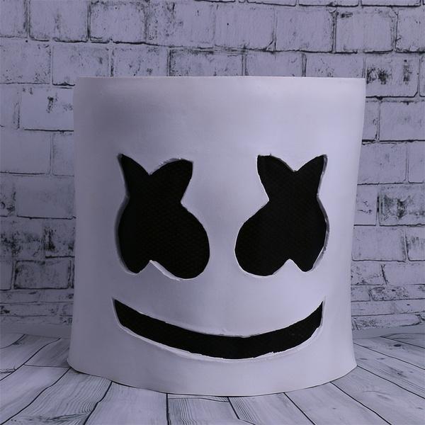 Wish Marshmello Mask Cosplay Helmet For Halloween Prop Dj Masks