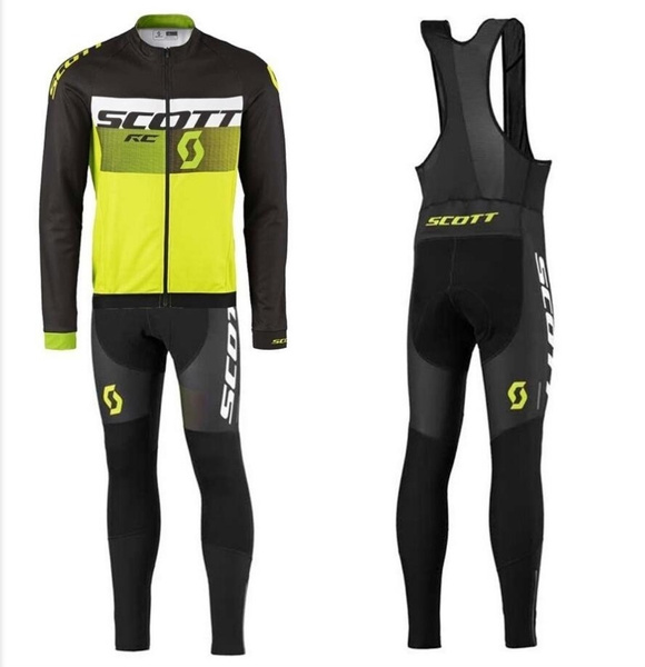 High Quality Mtb Riding Sports Suit Jersey Scott Cycling Jersey Bib Pants Ropa Ciclismo Bike Bicycle Cycling Clothing Wind Coat Long Sleeve Riding Jacket Bike Clothing Jersey Hombre by Wish