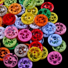 """Flowers, 14"""", button, Sewing"""