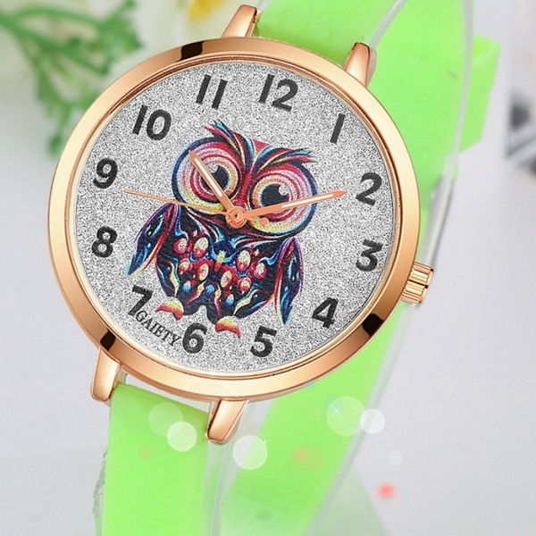 Frauen Quarz Uhr Marke Eule Silikon Armband Armbanduhr Uhr Daherrenuhren Business Vintage Kleid Uhr Geschenk
