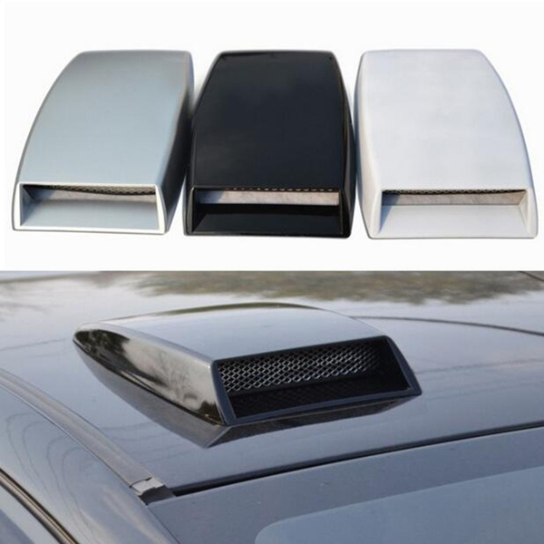 2 Pieces Air Flow Intake  Bonnet Hood Vent Grille Cover White