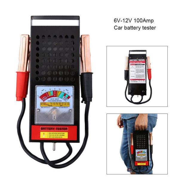 Battery Load Tester 100 Amp Load Type 6V /& 12V Mechanics 6 12 Volt Car Truck