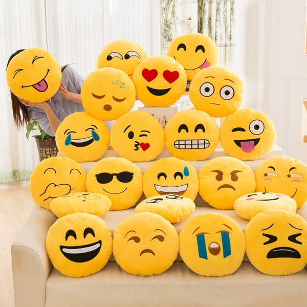 Emoji Cuscini.35cm Soft Emoji Smiley Emoticon Stuffed Plush Toy Doll Pillow Case
