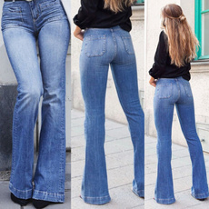 Blues, denimjeanswomen, trousers, Casual pants