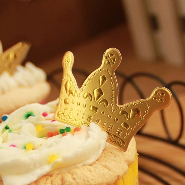Wish | New 50 Pcs Gold Princess Crown Cake Topper Favors Party ...