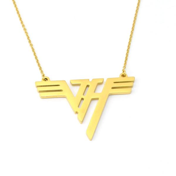Wish Vh Charm Eddie Van Halen Logo Gold Plated Stainless Steel