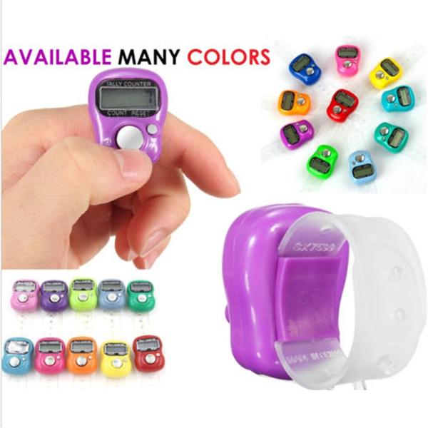 LED DIGITAL FINGER RING TALLY COUNTER Knitting Row counter CLICKER TASBEEH