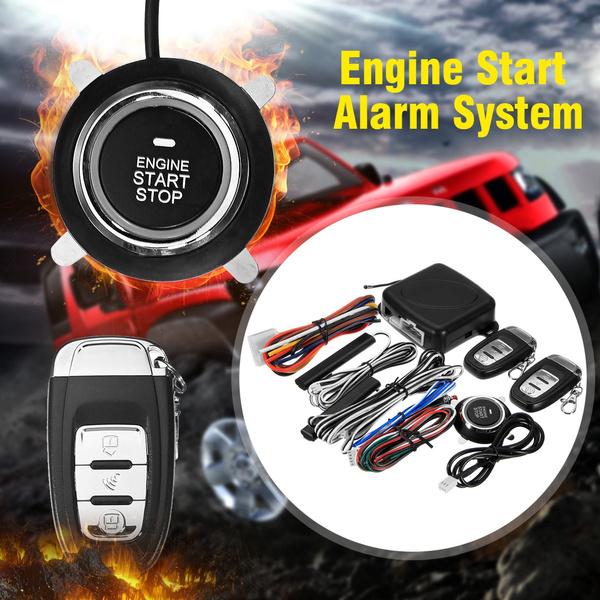 8PCS Car SUV Engine Push Start Button Ignition Starter Keyless Entry Start  Stop Immobilizer