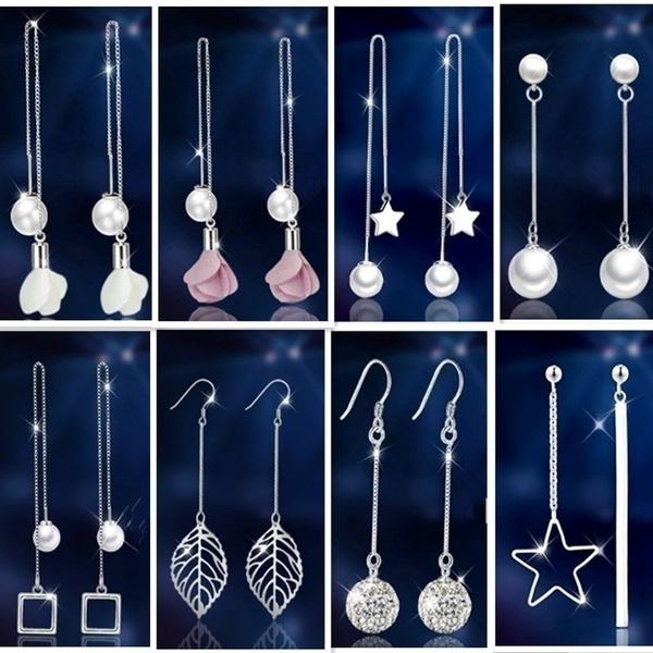 Sterling, allergy, Jewelry, Pearl Earrings