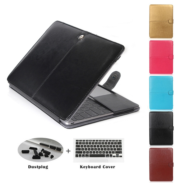 """PU Leather Laptop Book Back Case Cover for MacBook 12/"""" AIR PRO 11/"""" 13/"""" 15/""""Retina"""