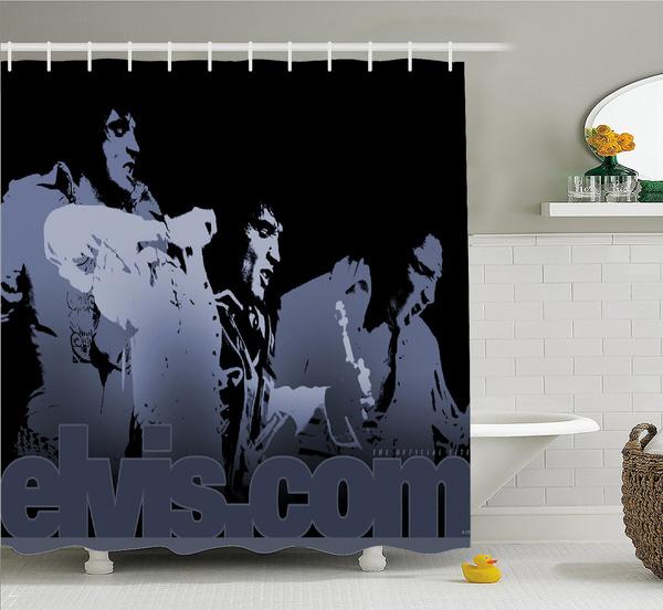 """Elvis Presley Custom Polyester waterproof Shower Curtain 60/"""" x 72/"""""""
