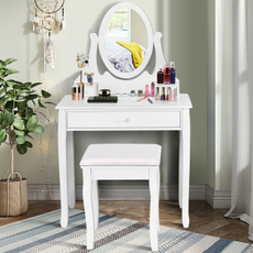Makeup, withovalmirror, withdrawer, Beauty