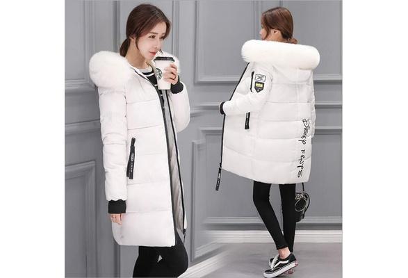 Woman's Fashion Winter Cotton Coat Woman's Warm Hoody Down Jacket EL3189