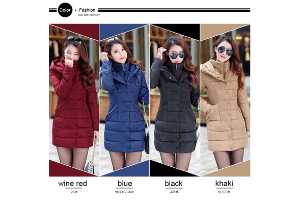 2017 New Winter Coat Long Thick Cotton Padded Jacket Warm Cotton Slim Down Jackets