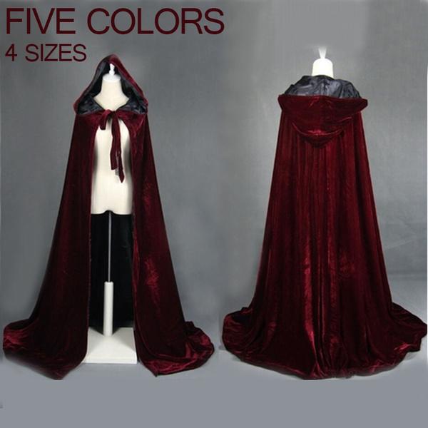 hooded, velvet, wicca, Coat
