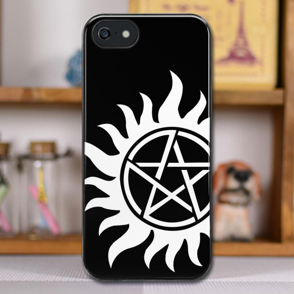 Anti-Possession Tattoo Symbol White Version - Supernatural Inspired Design  phone case for iPhone Case and Samsung case