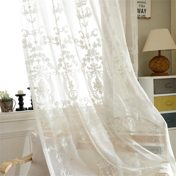 embroideryvoilecurtain, fashionmodernsheercurtain, curtainforlivingroom, tulledoorwindowcurtain