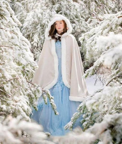 Wish 2017 Winter Fur Klassische Braut Cape Hochzeit Umhang