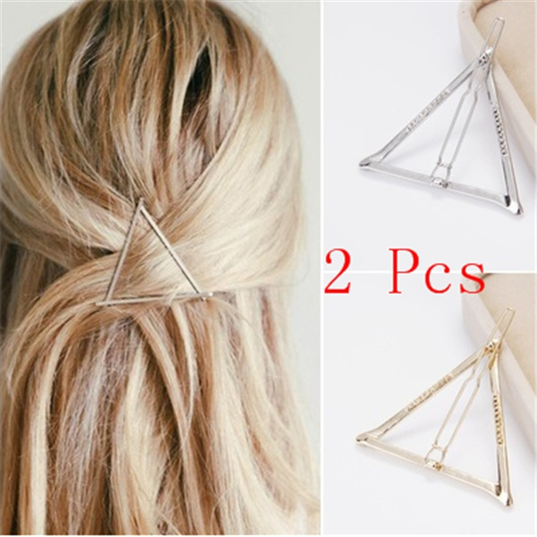 Triangles, Jewelry, charmhairpinsclip, Hair Pins