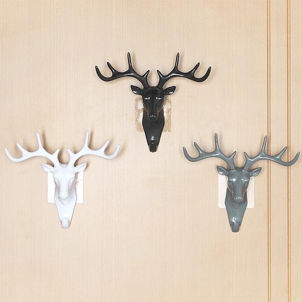 Wish   Creative Wall Personality Deer Head Wall Key Frame Antler ...