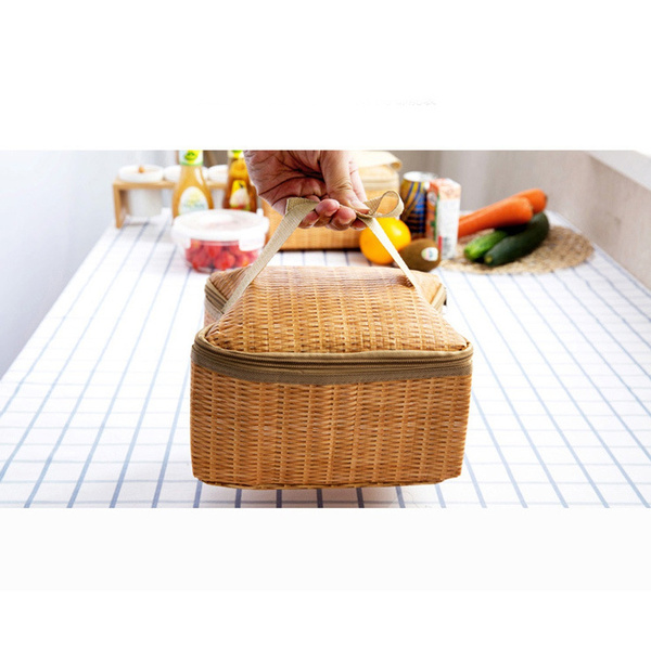 Wish | Portable Insulated Thermal Cooler Lunch Box Tote Storage Bag Picnic Container#amigacity